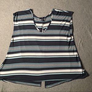 GAP sleeveless stripe blouse.